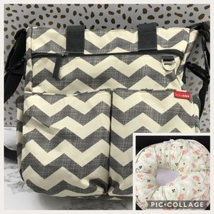 Baby diaper bag and Lounger (free)
